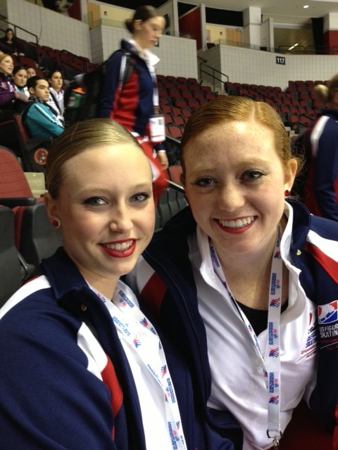 Taylor & Cristy after practice at Worlds